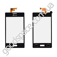 Тачскрин (сенсор) LG L5 E610, E612, большая или маленькая микросхема, цвет черный
