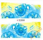 Набор 4 листа, слайдеры наклейки большие, вода С 200-203, фото 2