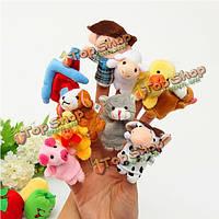 10шт семье пальчиковые куклы ткани куклы детские образовательные руку игрушку