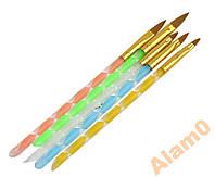 Кисти для наращивания ногтей, рисунка, акриловой лепки, гель лака