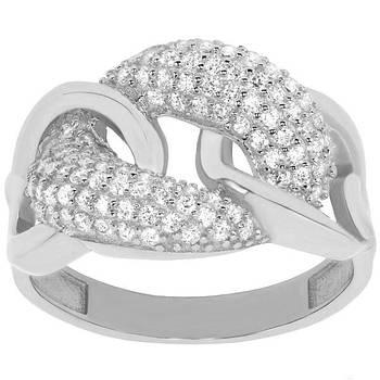 Кольцо из белого золота с цирконием