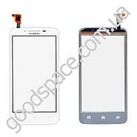 Тачскрин (сенсор) Huawei Y511 Ascend, большая или маленькая микросхема, цвет белый