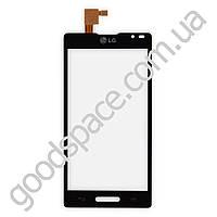 Тачскрин (сенсор) LG Optimus L9 P765, P760, цвет черный, копия высокого качества