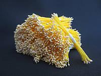 Тайские тычинки, СВЕТЛО-ЖЕЛТЫЕ, мелкие на желтой нити, 23-25 нитей, 50 головок