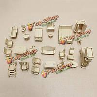 Деревянная миниатюрная мебель головоломки DIY образования игрушки