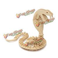 3D головоломки деревянные мудрость развитие Cobra змея игрушка