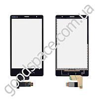 Тачскрин (сенсор) Nokia X2, цвет черный, копия высокого качества, на 2 sim карты