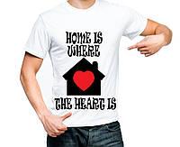 """Футболка """"Дом там,где сердце"""""""