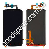 Дисплей HTC Sensation XE Z715e с тачскрином в сборе, цвет черный