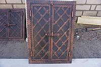 Дверца коптилки метал+ковка 2-ств.(40х60) (елка)