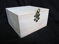 Шкатулка деревянная квадратная, р-р 13х13х7,5см (75\50)