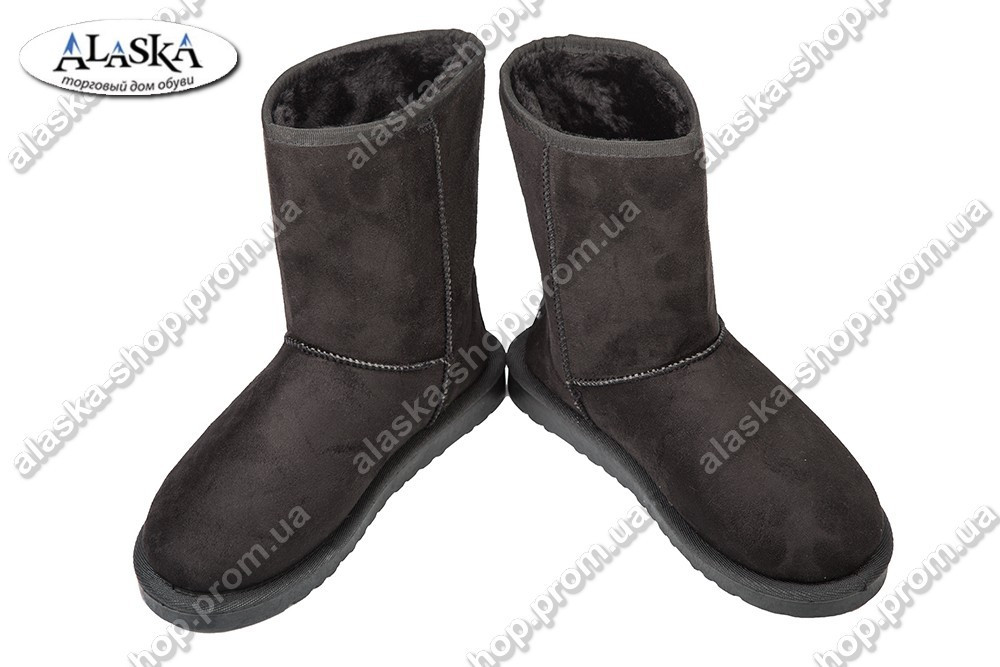 Женские угги черные (Код: У-120)