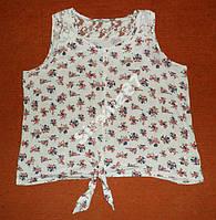 Стильная летняя блузка. Цветочный принт №14