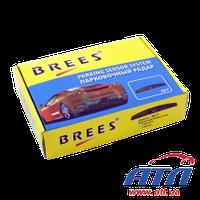 Датчик парковки BREES М007 (серый), 4 датчика(913294)