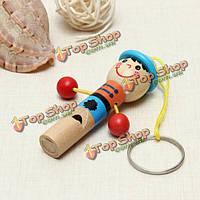 Деревянный мини развития музыкальных свисток дети игрушка образовательные игрушки