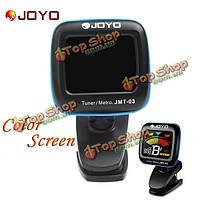 Джойо СГП-03 портативный цифровой гитарный тюнер цветной экран метроном