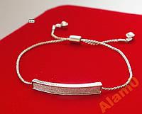 Нежный браслет, цвет серебро