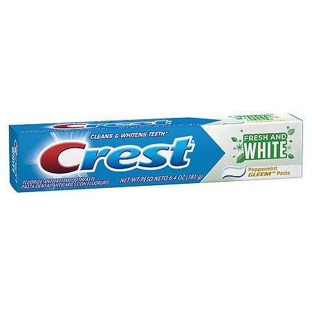 "Отбеливающая зубная паста ""Перечная Мята"" Crest Gleem Fresh and White Fluoride Anticavity Toothpaste"