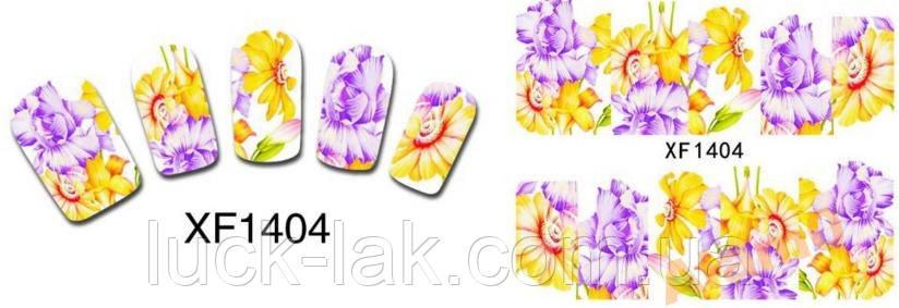 Слайдери водні наклейки, стікери квіти 1404