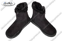 Женские угги черные (Код: У-124)