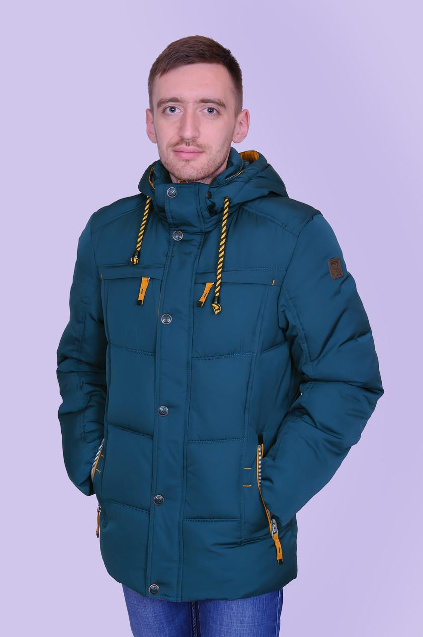 Чоловіча зимова куртка, кольору морської хвилі.
