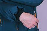 Чоловіча зимова куртка, кольору морської хвилі., фото 5