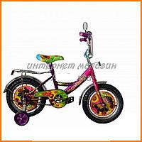 """Велосипед двухколёсный Azimut 14"""" Маша и Медведь 4648"""