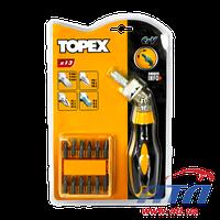 Отвертки и насадки TOPEX  набор 13 шт. Cr-V (39D525)