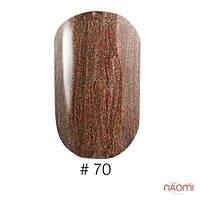 Покрытие для ногтей VINYTONE 70 коричневого цвета с шиммерами