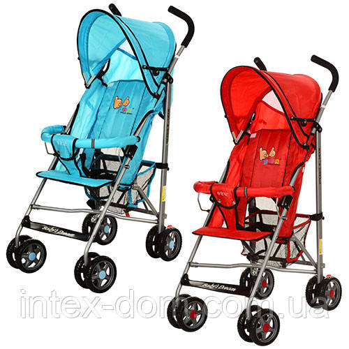 Детская коляска с москитной сеткой BD102-3-4R (Красная)