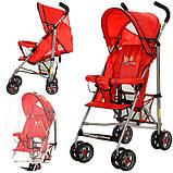 Детская коляска с москитной сеткой BD102-3-4R (Красная), фото 3