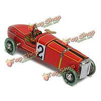 Винтаж ветер гоночный автомобиль модели заводные жестяные игрушки коллекционные подарочные