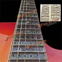 1шт грифе гитары стикер Примечания звукоряду этикетка наклейка начинающий