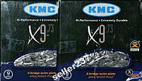 Цепь KMC X9.73 c замком 9 звезд 116 звеньев