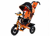 Детский трехколесный велосипед Lamborghini L2O Air  с фарой, оранжевый