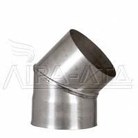 Колено 45 из нержавеющей стали 0,8 мм AISI 321