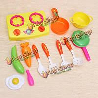 13шт/игрушки набор кухня маленький шеф-повар мини-кухня с посудой игрушки набор
