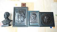 Бюст и плакетки А.Гитлера, копии, по 3 рейху