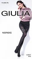 Теплые женские колготки с рисунком NORDIC 150 (25) от тм Giulia