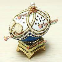 Королевская осанка яйцо резьба музыкальная шкатулка поделки подарок свадебный подарок