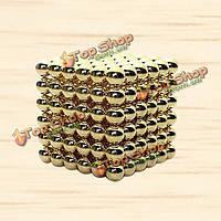 Магнитная игрушка головоломка Неокуб золотой 216 шариков 3мм