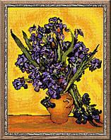 """Набор для вышивания крестом «""""Ирисы"""" по мотивам картины В. Ван Гога» (1087), Риолис"""