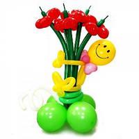 №10 Цветы из шаров-сердец