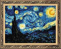 """Набор для вышивания крестом «""""Звездная ночь"""" по мотивам картины В. Ван Гога» (1088), Риолис"""