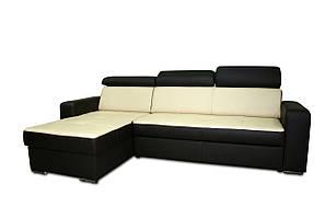 Раскладной угловой диван в коже FX15 B1 (269 см) (3 цвета в наличии)