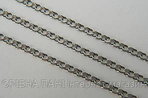 Цепочка серебряная 925 пробы - плетение Плоский Бисмарк