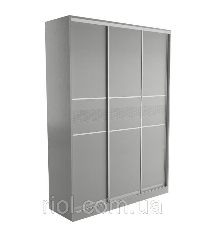 Шкаф-купе 3-х дверный Соломия (скол дуба белый) ТМ Неман