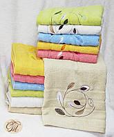 Полотенце для лица и рук Листья бежевые