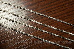 Цепочка женская серебряная - плетение Веревка