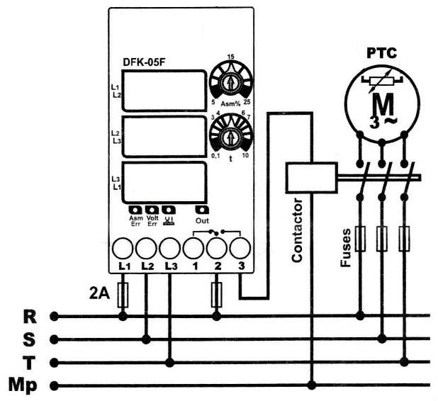 реле контроля фаз защиты двигателя от перекоса фаз, асимметрии, скачков напряжения